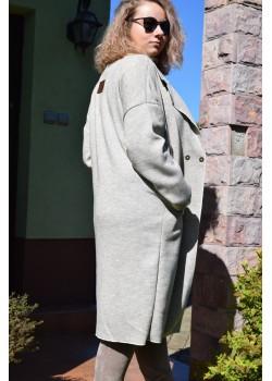 Płaszcz z dzianiny beżowy