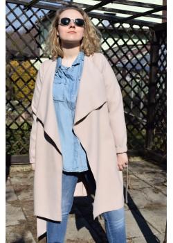 Płaszcz wiązany