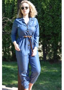 Kombinezon z cienkiego jeansu