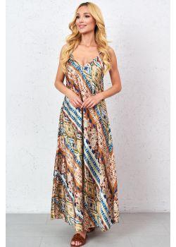 Sukienka maxi zygzak